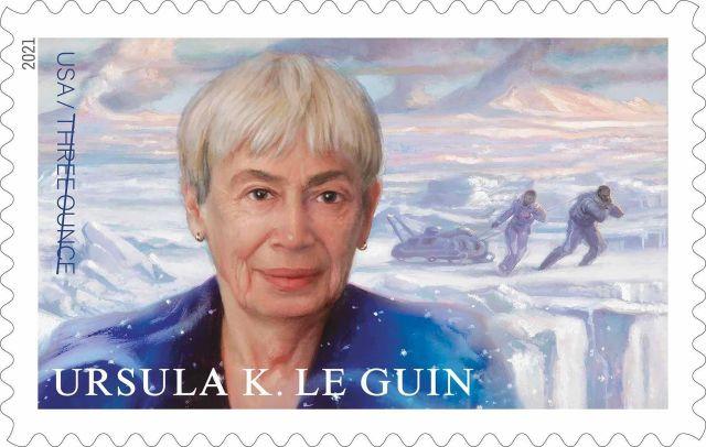 US postage stamp honoring Ursula K. LeGuin