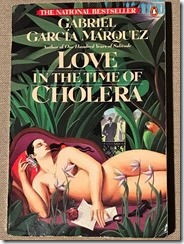 Love in the Time of Cholera by Gabriel Garcia Marquez - cover