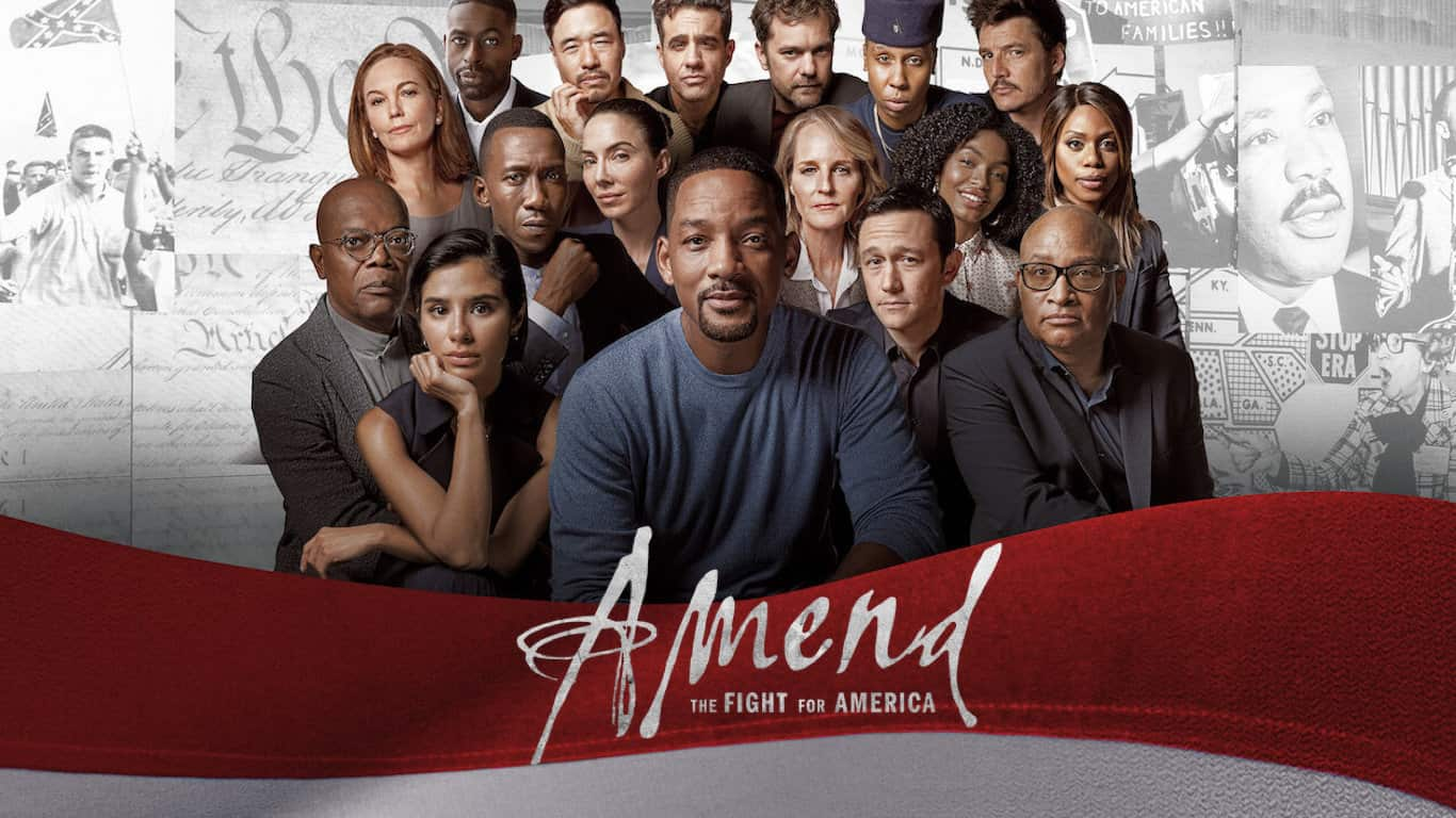 The cast of Amend; The Fight for America